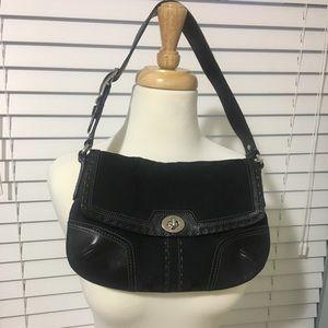 Coach signature black handbag.